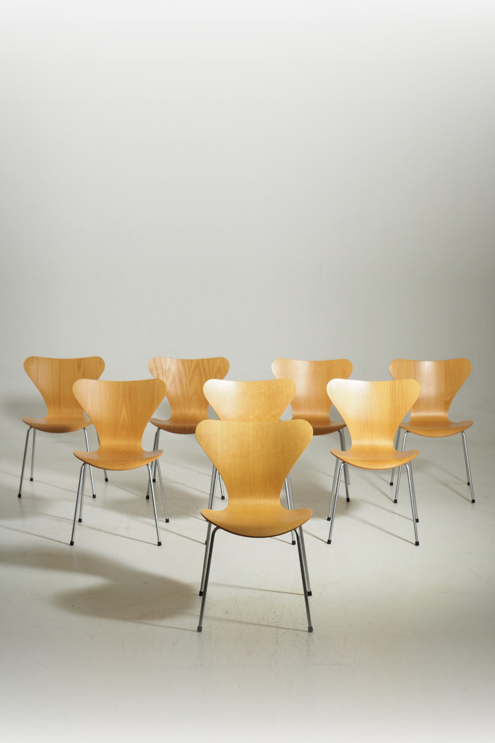 "Arne Jacobsen ""Seven"" chair. Made at Fritz Hansen."