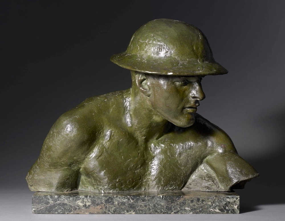 John Tweed,  Bust of a Tommy, 1919