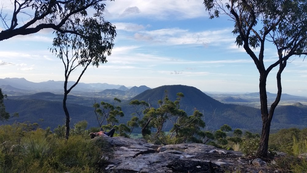 Mt Barney Range. At the end of a hard day we come here to relax