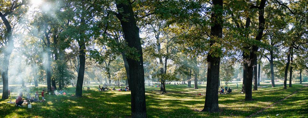 Ein Sommertag am Treptower Park, Berlin