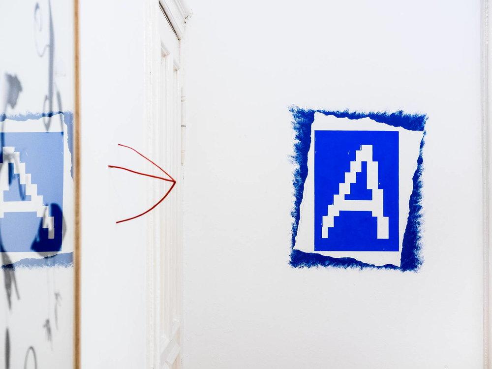 Max Renkel, Lothar Baumgarten (Wall painting) - Antiquariat Marco Gietmann, Berlin