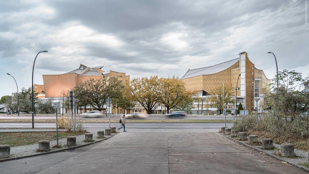 Kammermusiksaal der Berliner Philharmonie und Philharmonie, Berlin - Edgar Wisniewski nach Skizzen von Hans Scharoun, 1987 und Hans Scharoun, 1961
