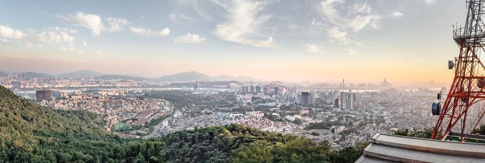 Panorama, Seoul, Südkorea