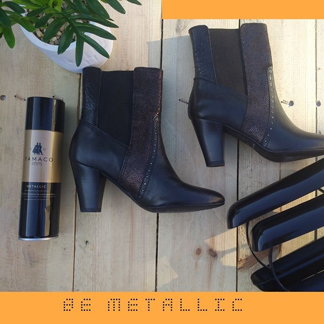 Be Metallic. Be Rock!  Entretenez votre côté rock avec notre Metallic ! N'oubliez pas les tendeurs bottines qui garderont en forme vos bottines préférées ;) Nourish the rock part of you by using our Metallic ! Don't forget the boot stretchers that keeps the shape of your boots ;)