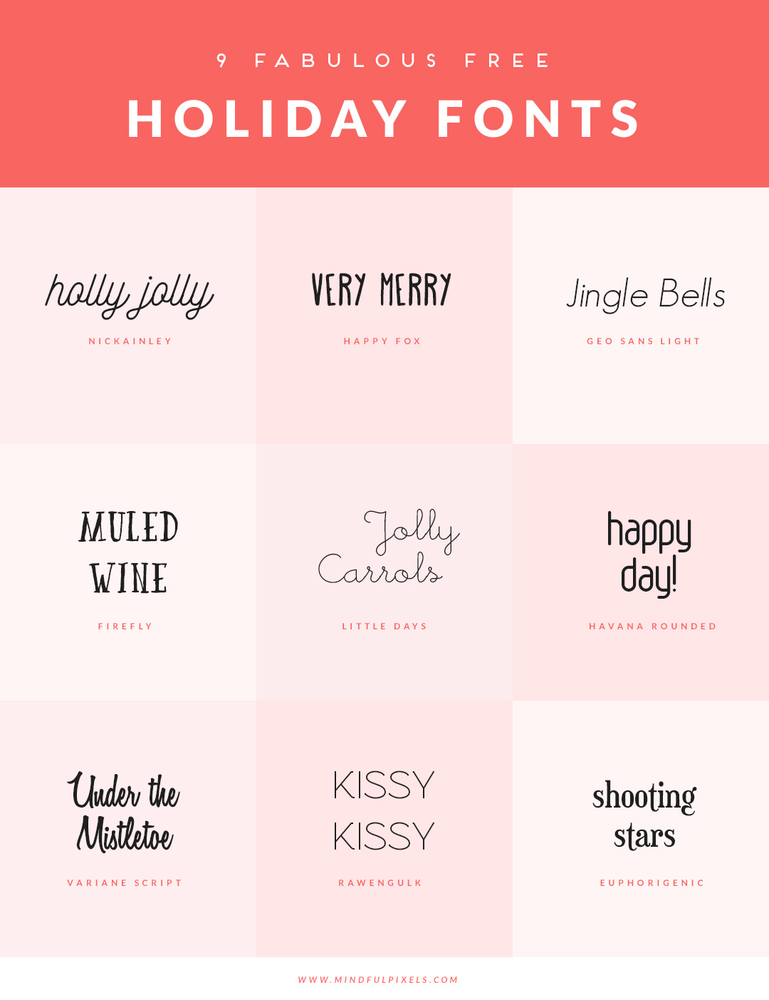download the 9 free holiday fonts here - Free Christmas Font