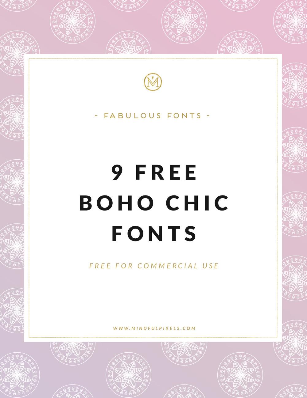 9 Free Boho Chic Fonts