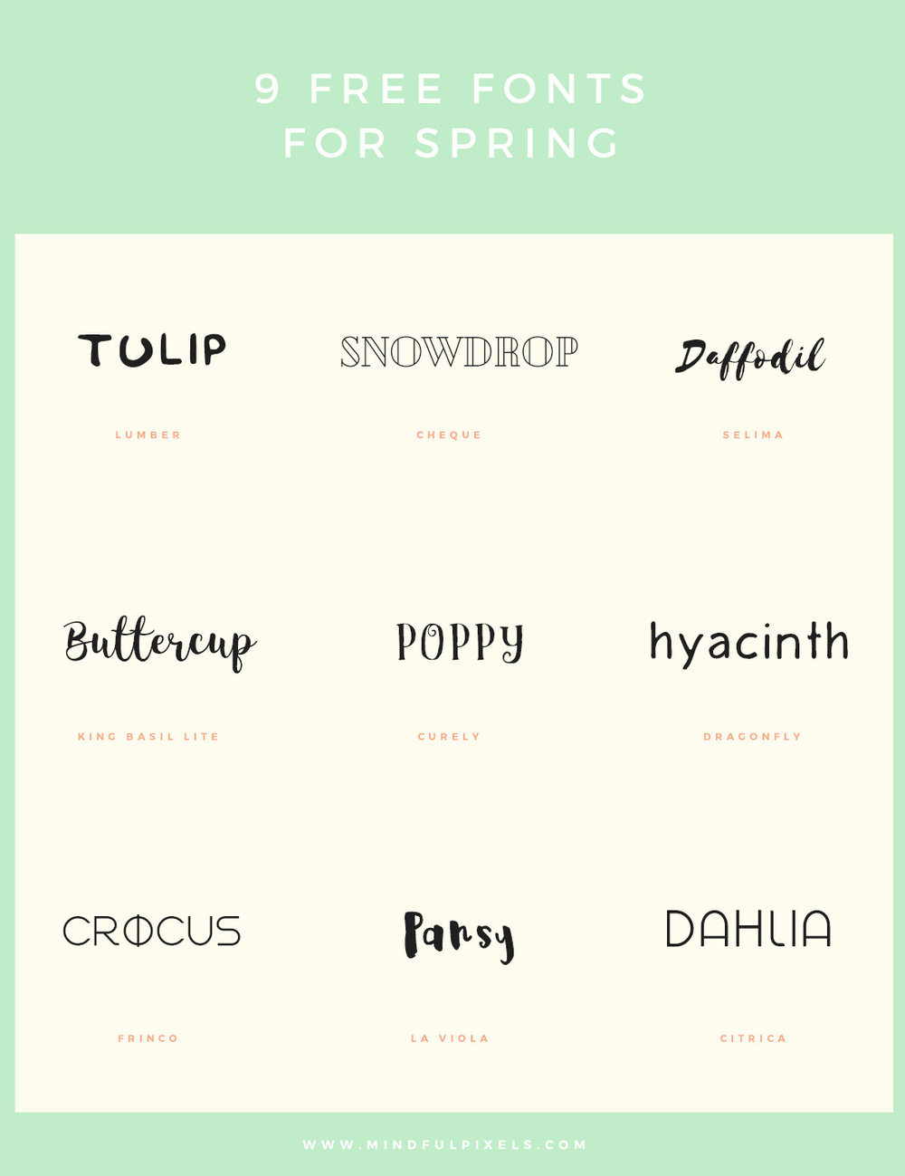 9 commercially free fonts for spring