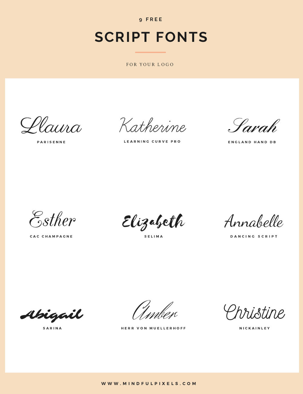 9 Free script fonts for your logo