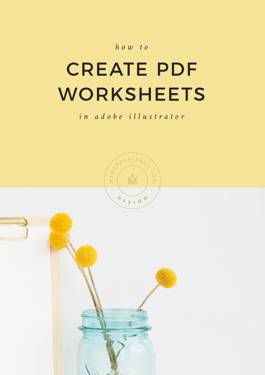 How to Create PDF Worksheets in Adobe Illustrator
