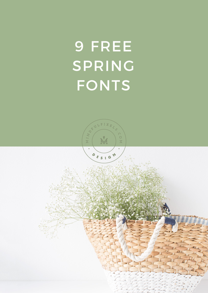 9 Free Spring Fonts