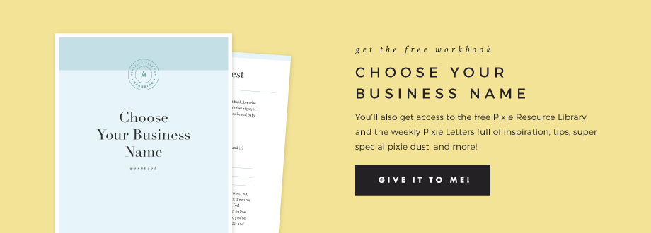 Choose Your Business Name - Free Workbook