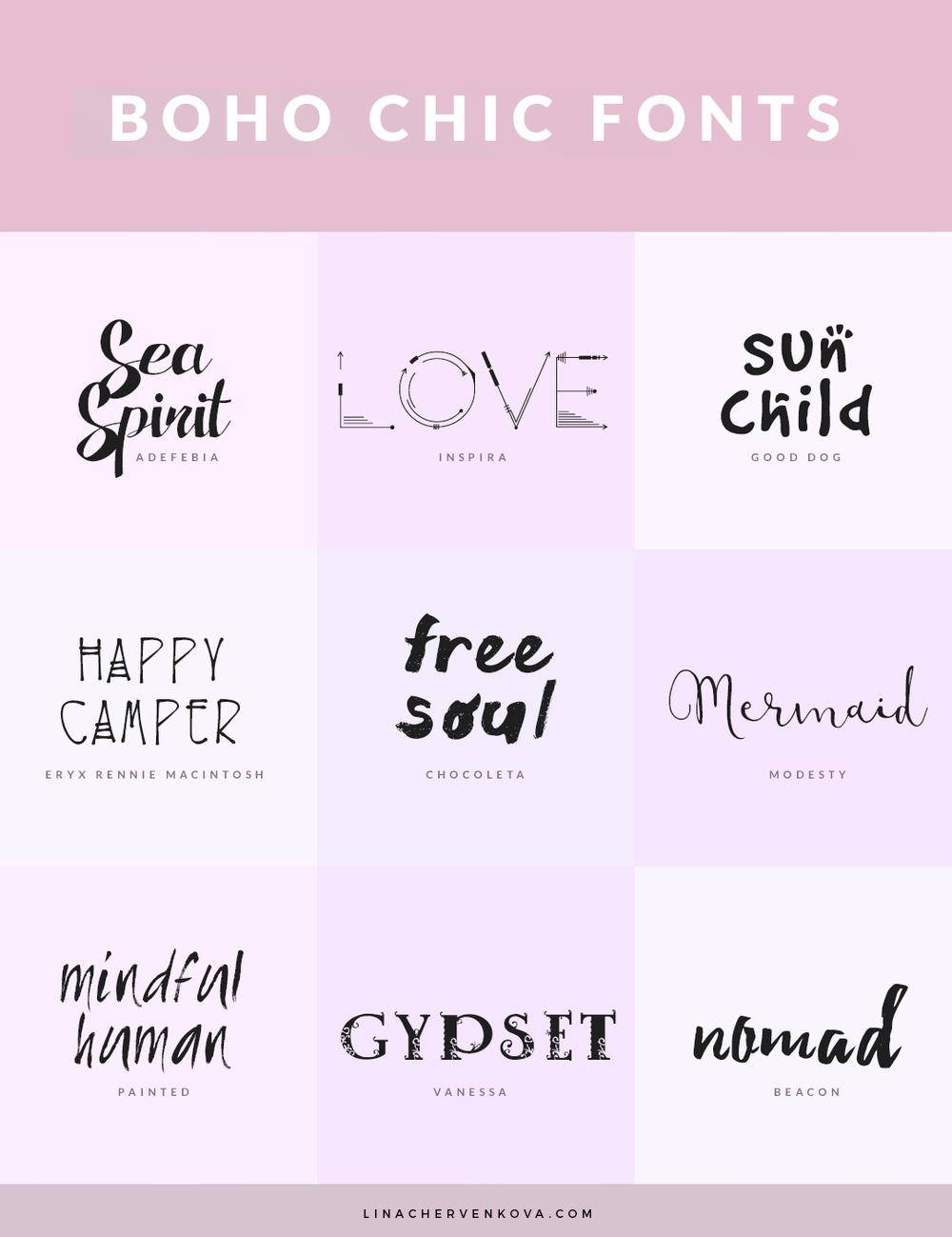 9 Free Boho Chic Fonts | linachervenkova.com