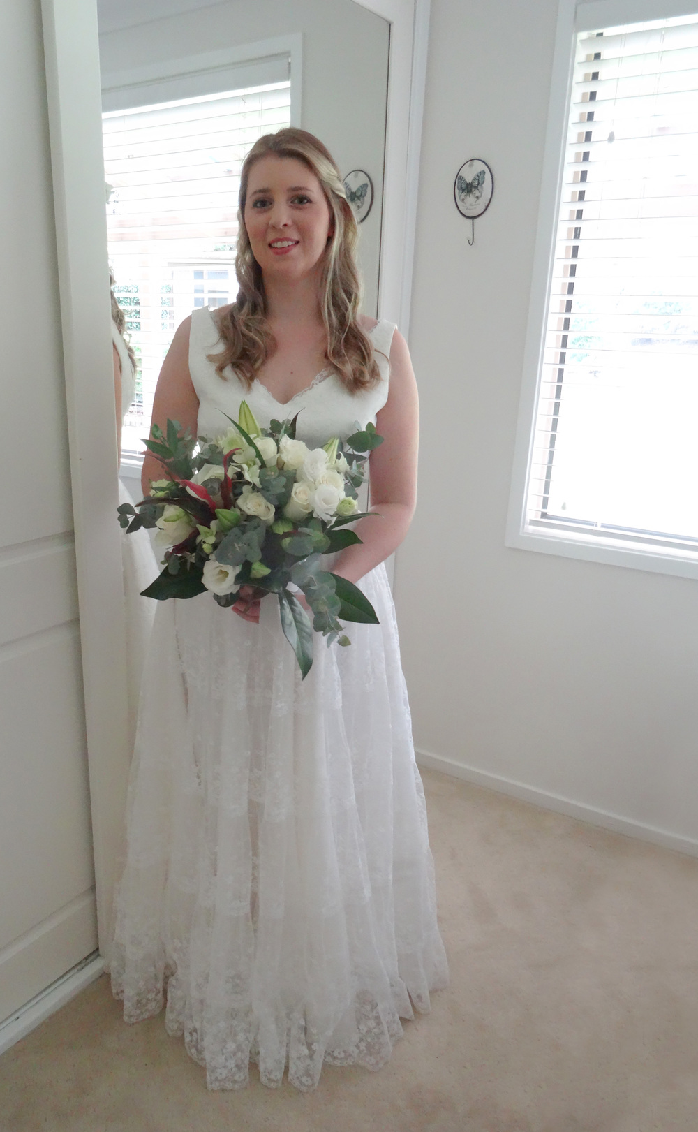Mother's vintage wedding dress re-made to suit daughter