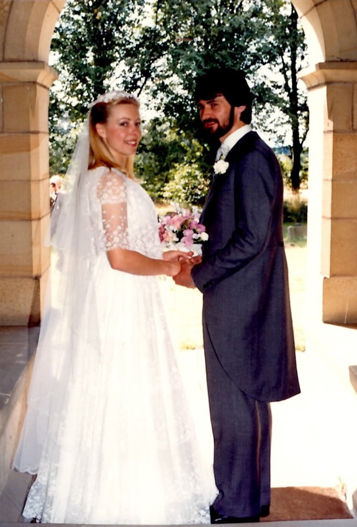 Kate's mother in the original wedding dress in 1986