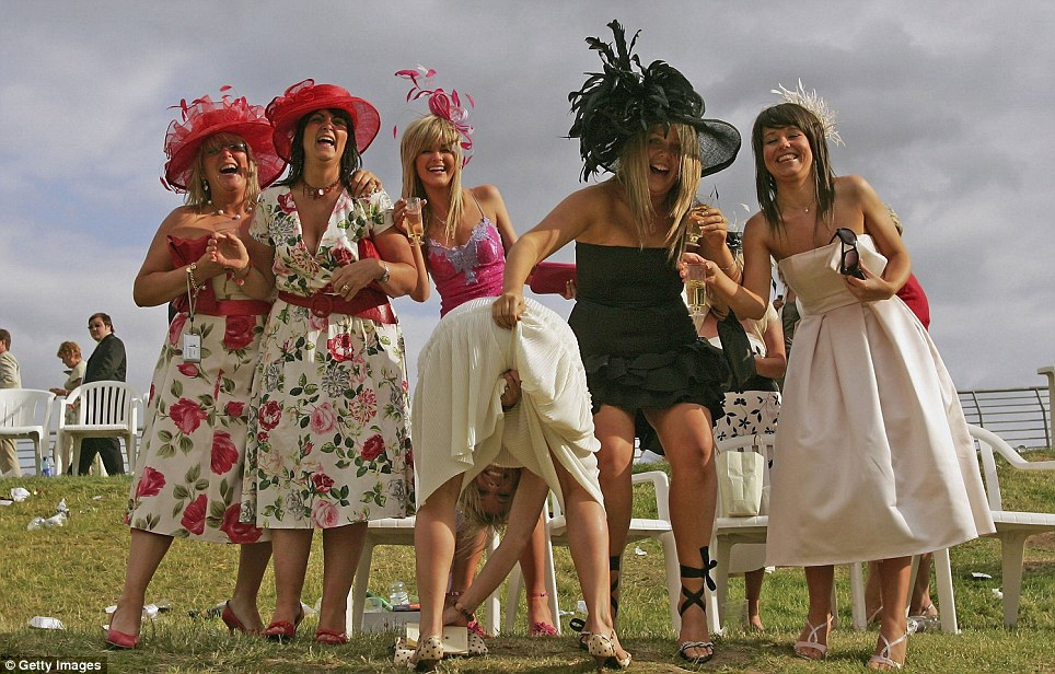 However Ascot has long been an event where people seem to let their hair down (Credit: Getty Images)