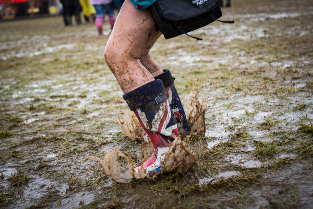 Glastonbury Festival is usually quite a muddy and messy affair! (Credit: Amy)