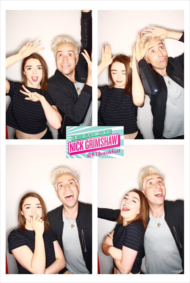 "We have a long-term booth that on the BBC Radio1 Breakfast Show Nick Grimshaw uses when he has guests on the show. They call it the ""InstaGrim Booth!"" (Credit: Say Fromage)"