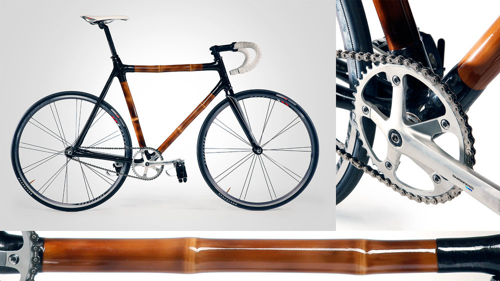 Product photography example: Bicycle shot with details
