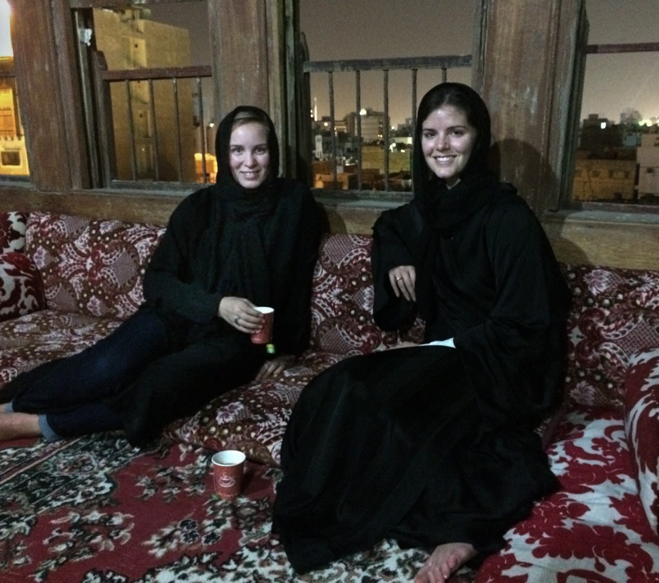 ...sipped tea on the rooftop of Jeddah's original palace after hosting a seminar at Saudi Arabia's only technical university for women,
