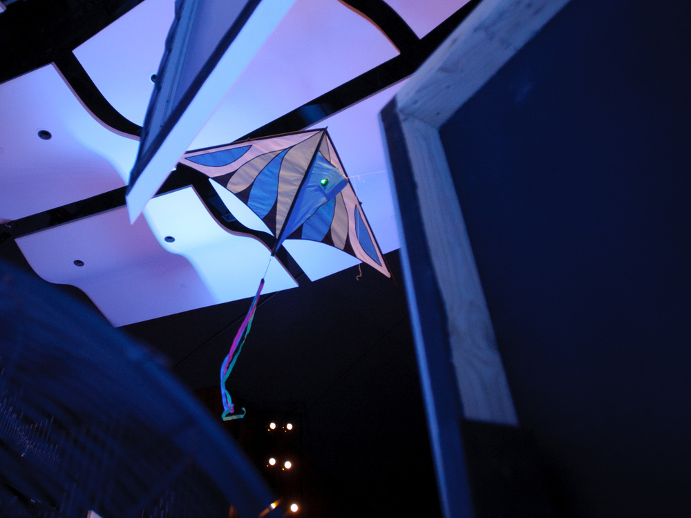 Blue team's Laser Kites