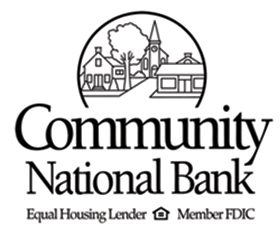 COMMUNITY NATIONAL BANK   Thanks for stepping up to support the arts in your community, we know how important it is to you and your customers.