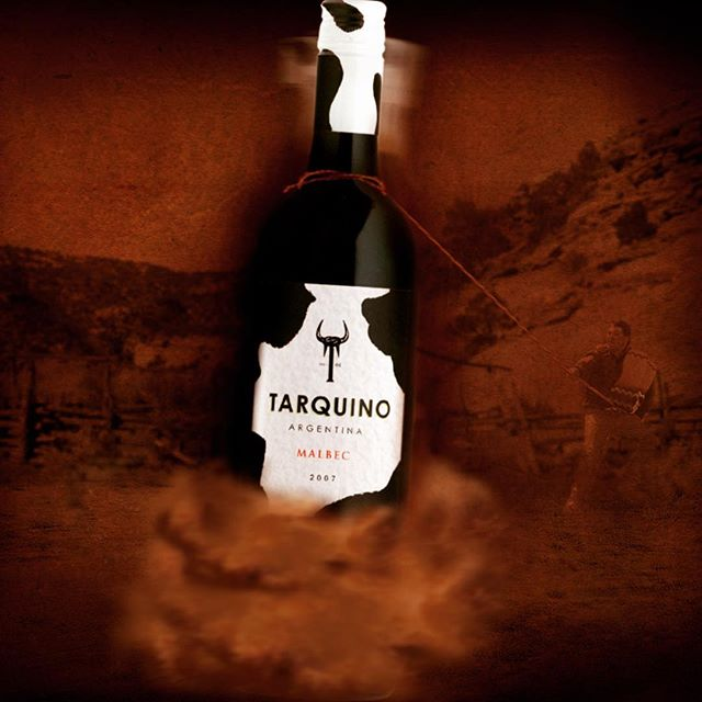 We created Tarquino for maximum brand recognition and shelf standout in a very crowded category. #brandcreation #argentina #malbec #design 🍷🤺#gaucho on shelf @theofficialselfridges