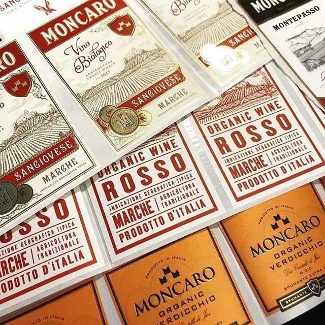Hot off the press for @moncaro_wines #design #italy #wine 🍾🍷🖌️🤺#branding
