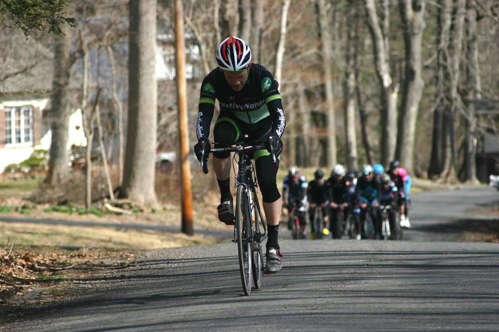 Although the Hell of Hunterdon is not a race, this was the unofficial leader coming into (and through) the first rest stop. Photo courtesy Chuck Rudy