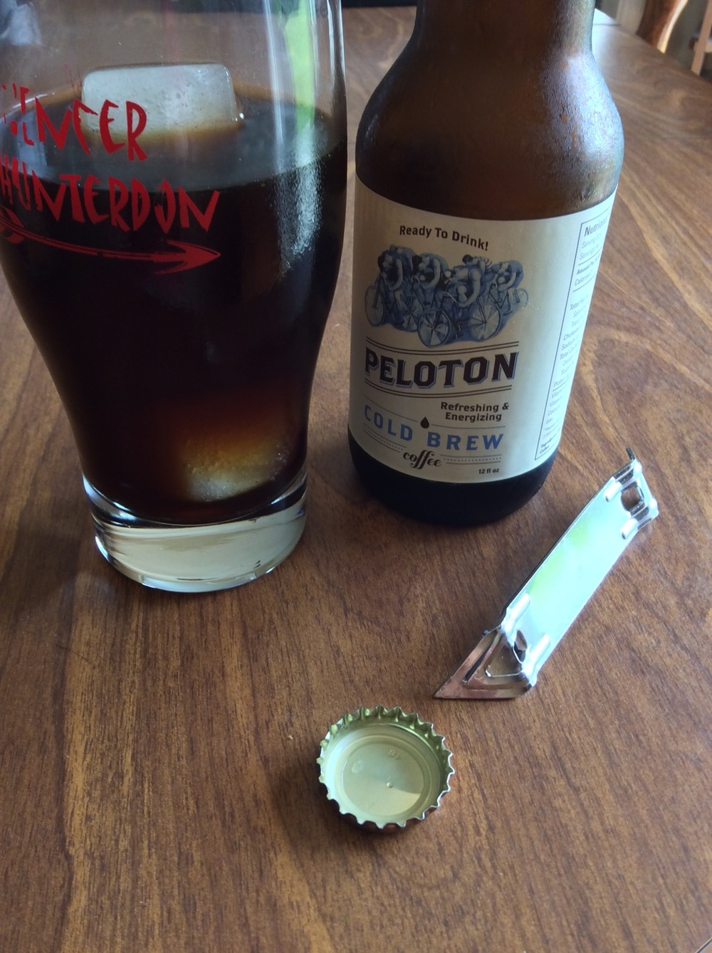 Peloton pours a nice dark color and looks good in the Hell of Hunterdon glass.