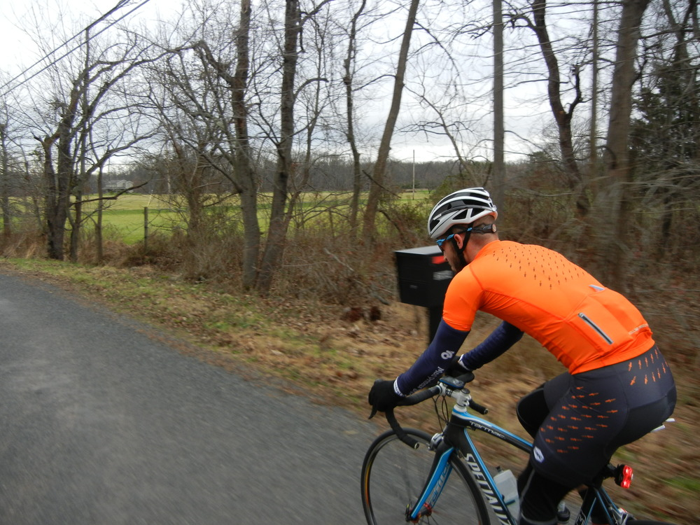 Mike riding in his new Lone Wolf Cycling kit.