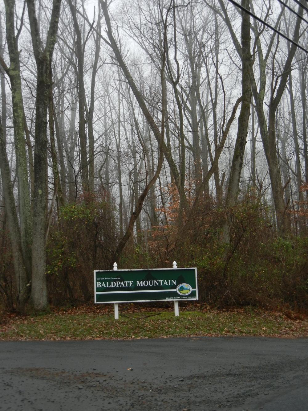 Baldpate, a hike and bike area, among the fog.
