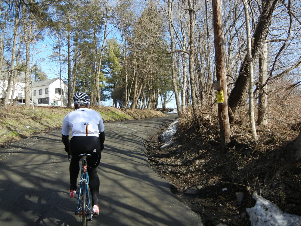 The sneaky climbing portion of Oak Grove Road. This was the driest portion of both sectors.