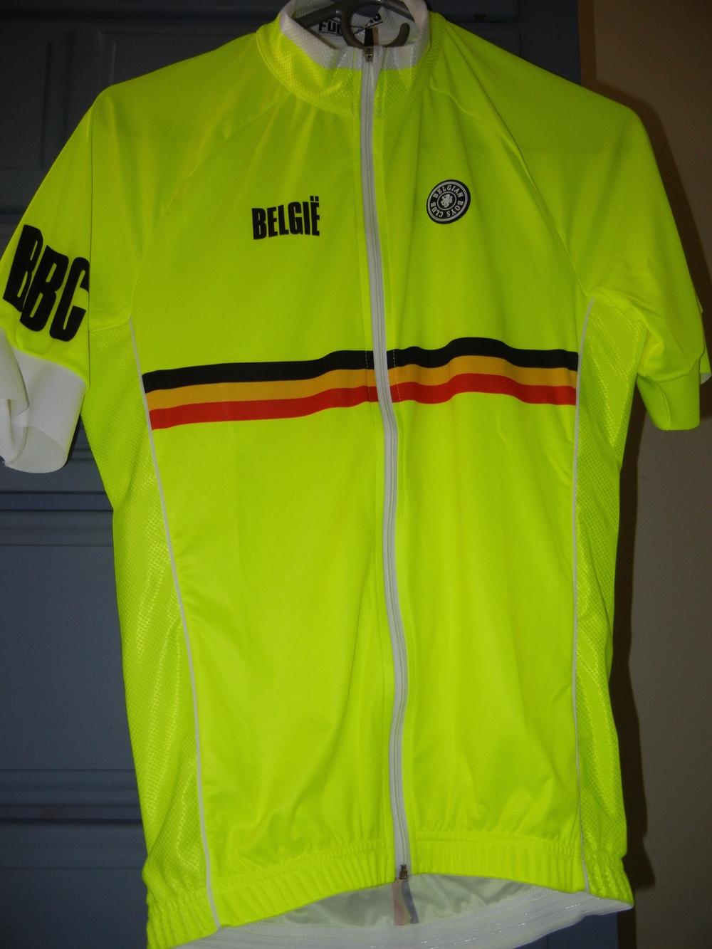 The front of the Belgie jersey.