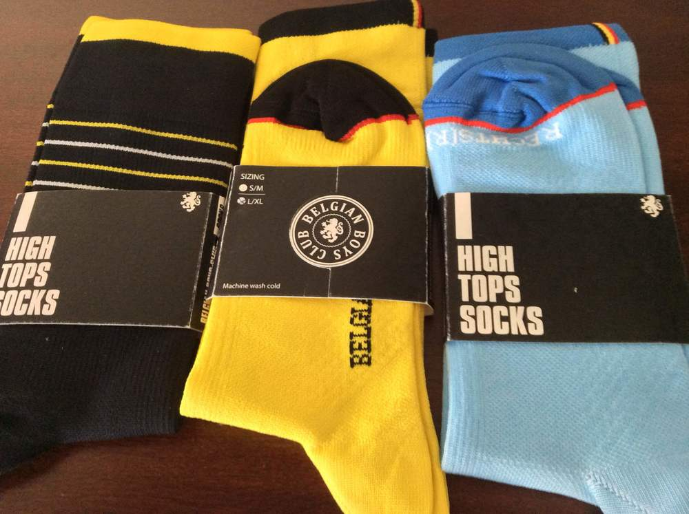 The three new attractive sock options, or what comes in the sock bundle. Be forwarned, they mean HIGH topped.
