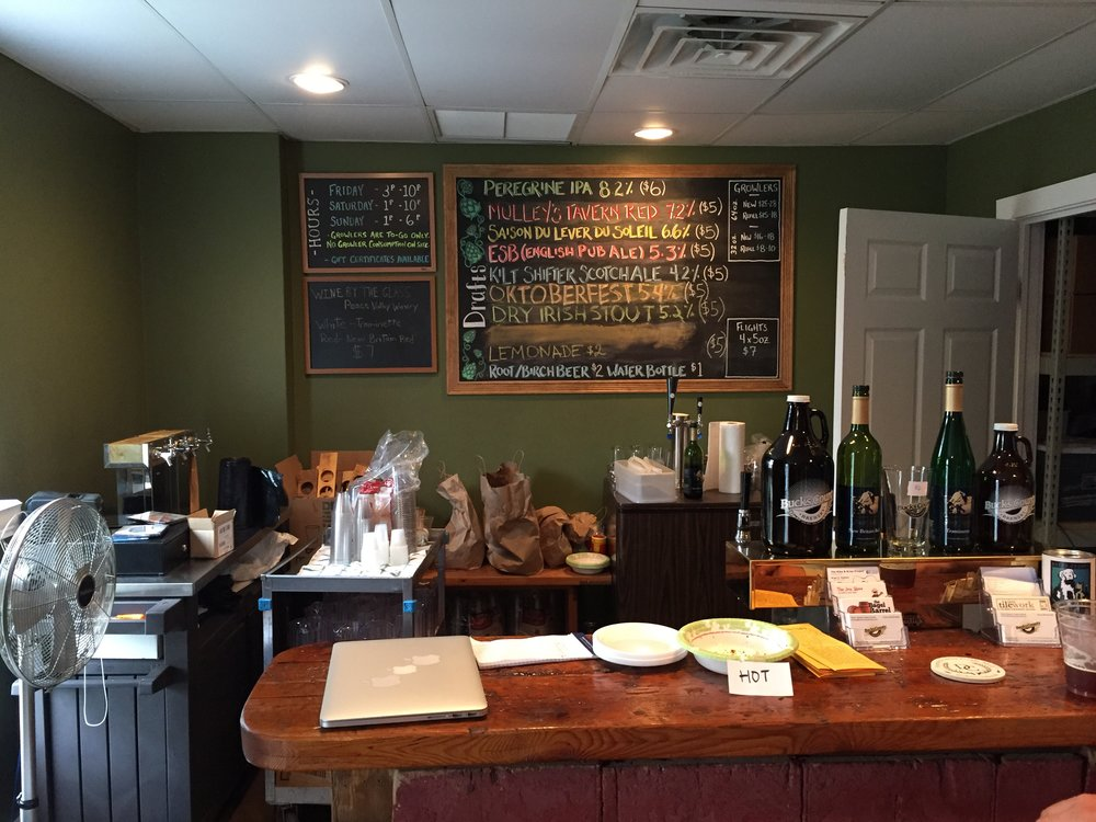 The quaint bar space offers several styles of beer as well as Peace Valley wine.