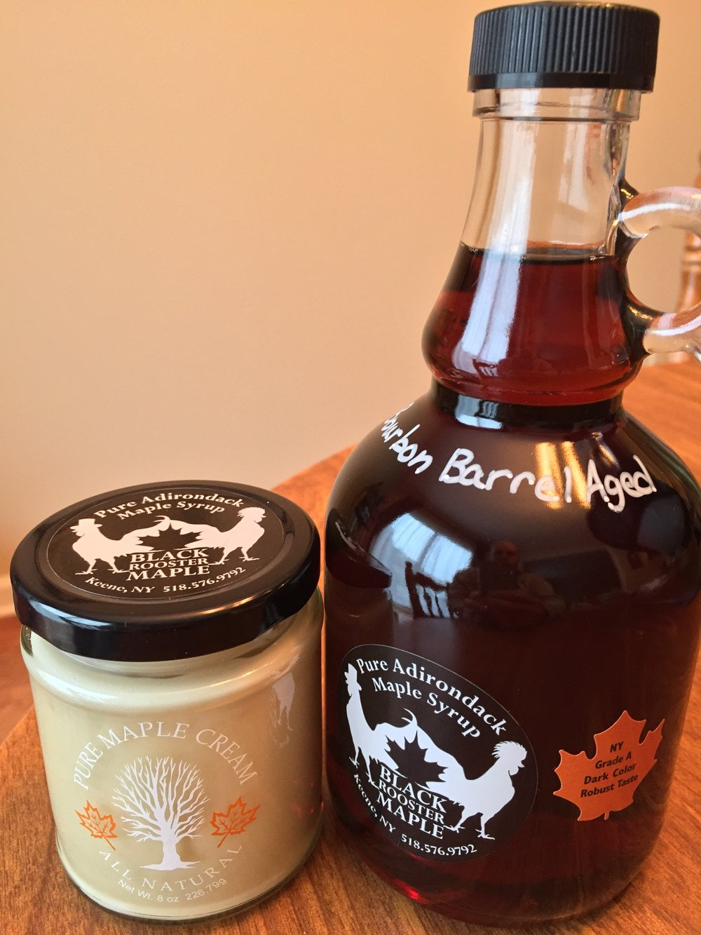 Black Rooster maple products come in handsome packaging.