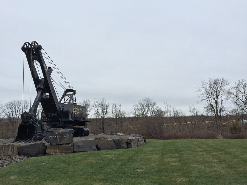 The display digger outside of Eureka Quarry in Wrightstown.