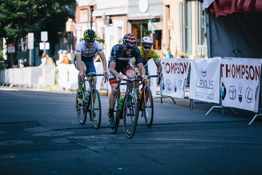 The breakaway in the Bucks County Classic Amateur 2/3 race. Photo courtesy  Mike Maney .