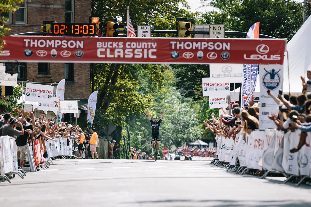 Oscar Clark soloed to victory after breaking away from the lead group. Photo courtesy  Mike Maney .