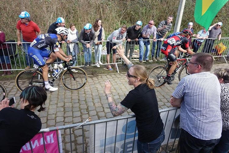 Tom Boonen at Paris-Roubaix.