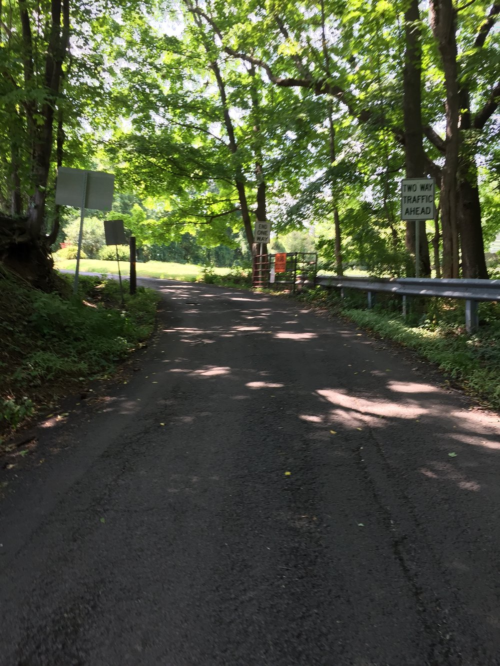 The sweet summit complete with its gate and resumption of two way traffic.