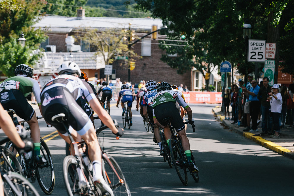 Mike Maney  captured this photo of the race exiting onto Main Street and entering Ashland Street.