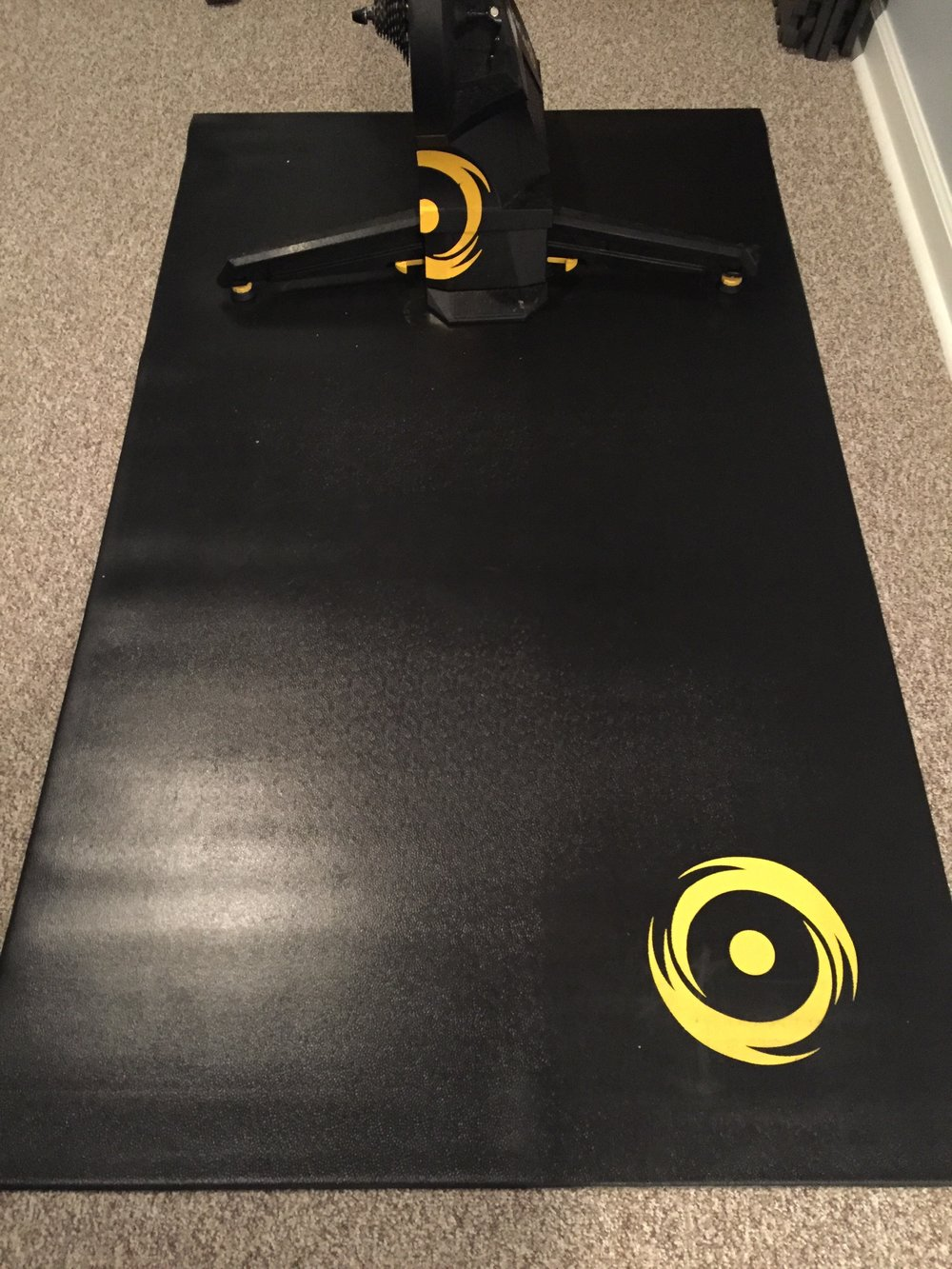 It's like the CycleOps H2 (Hammer) smart trainer and Training Mat were meant for each other.