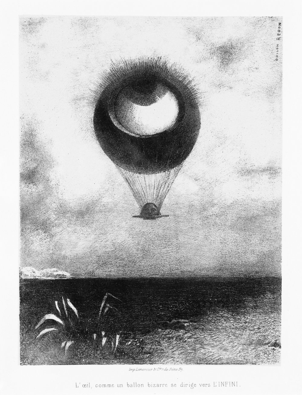 Drawing by Odilon Redon