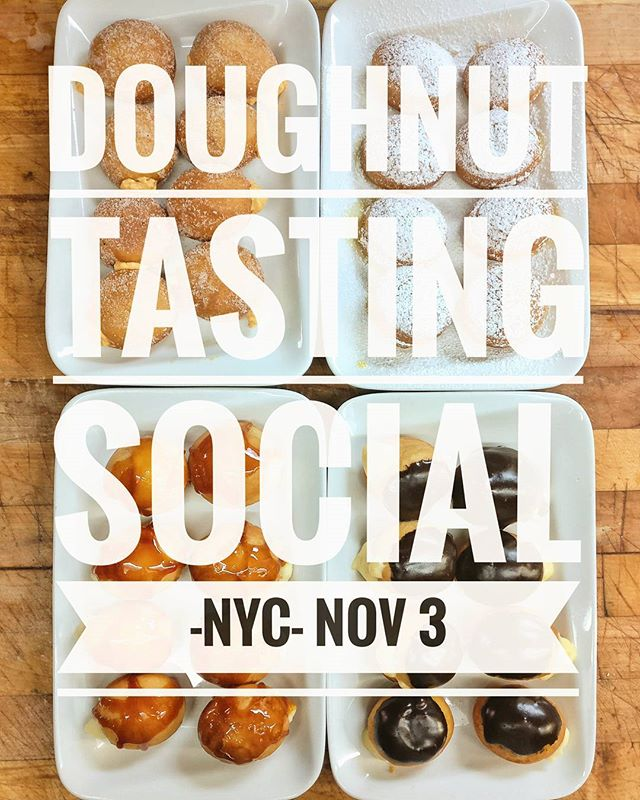 One week until our NYC Doughnut Tasting Social!! Get your tickets before they're all gone!!! Link in bio.  #nyceventplanner #nycsocials #nycdessert #nycdonuts #doughnuts #nyc #nycparty #partyplanner #partydesserts #weddingdessert #weddingindustry #weddingtasting #tasting