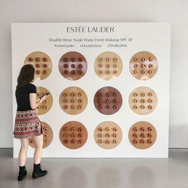 We shade matched our doughnuts to @esteelauder's new foundation shades!