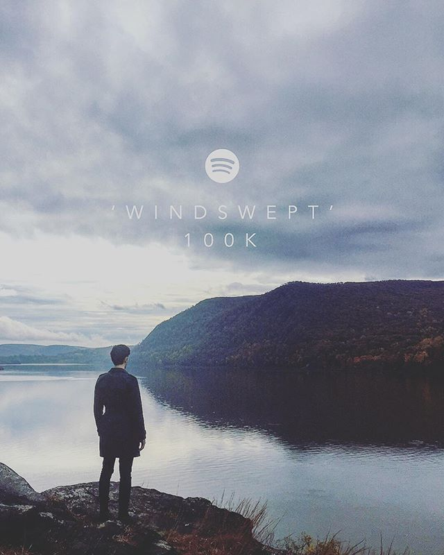 Thanks you for yet another milestone. Our song 'Windswept' has passed 100,000 streams on @spotify, and we couldn't be more grateful to everyone who lets our music into their lives 💙