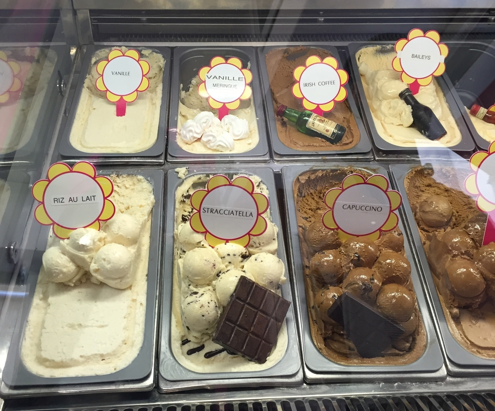 Flavours of ice cream in Nice - Nice travel blog