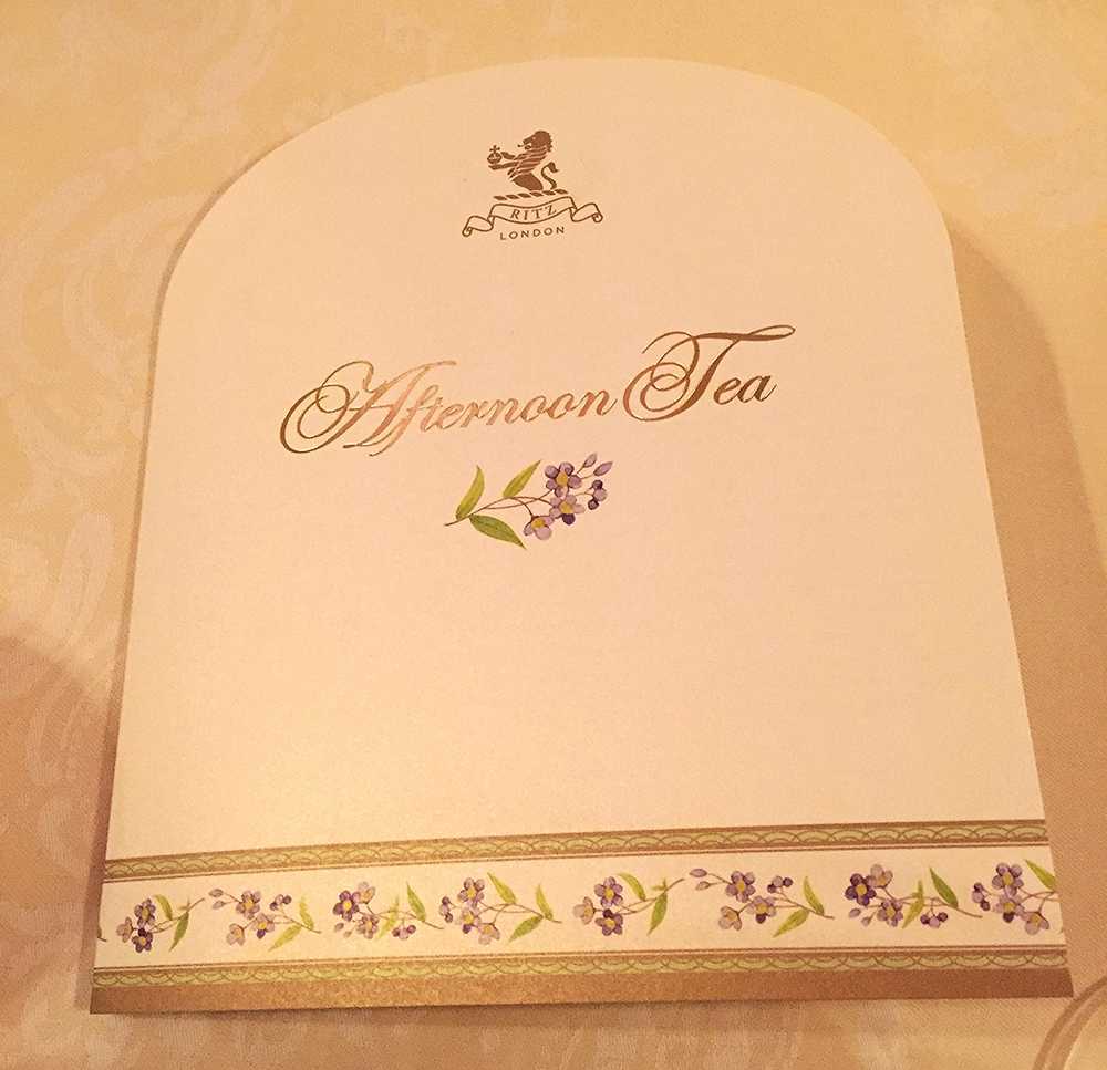 The Ritz Afternoon Tea Menu