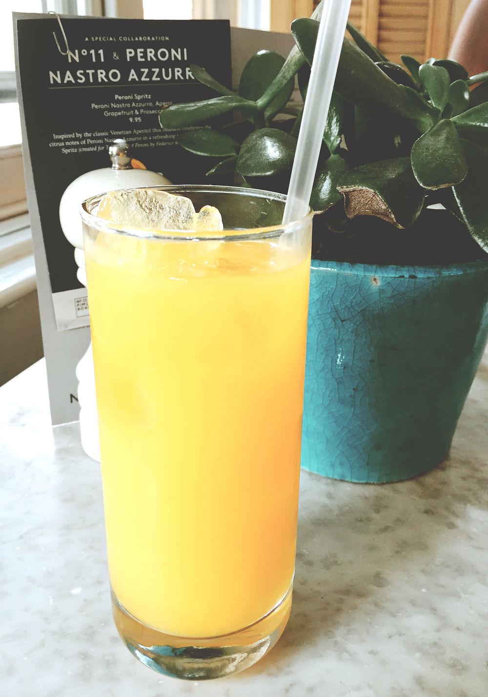 No.11 Restaurant Review - Orange juice